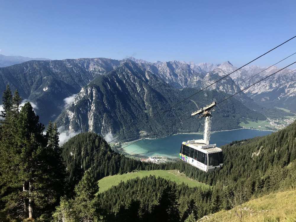 Mit der Rofanseilbahn wandern: Karwendelblick de Luxe